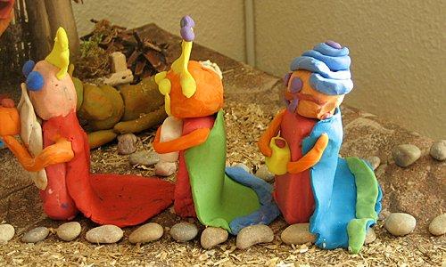 Belén de plastilinas: los pastores