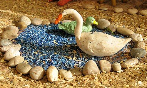 Belén de Plastilina: el cisne