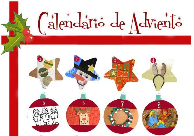 Calendario de Adviento digital de manualidades para niños