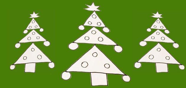 cmo dibujar un rbol de navidad - Dibujos Arboles De Navidad