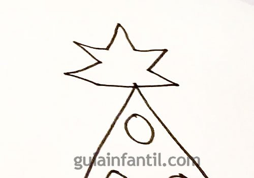 Cómo dibujar un árbol de Navidad. Paso 4