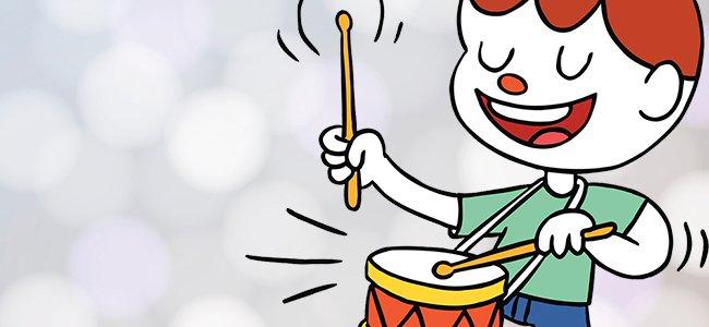 L'enfant au tambor en francés. Villancicos