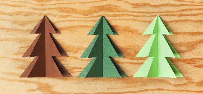 Manualidades para hacer rboles de navidad con los ni os - Manualidad ninos navidad ...