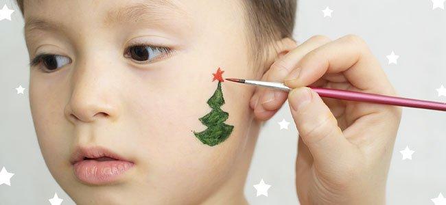 De qué maquillar a los niños en Navidad