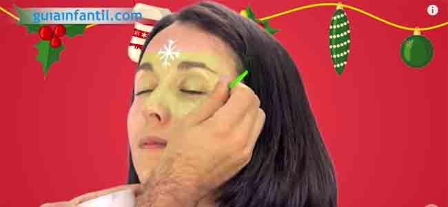 Maquillaje de hada de Navidad. Paso 2