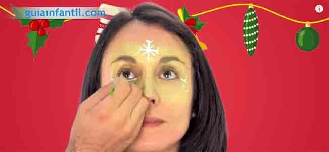 Maquillaje de hada de Navidad. Paso 3
