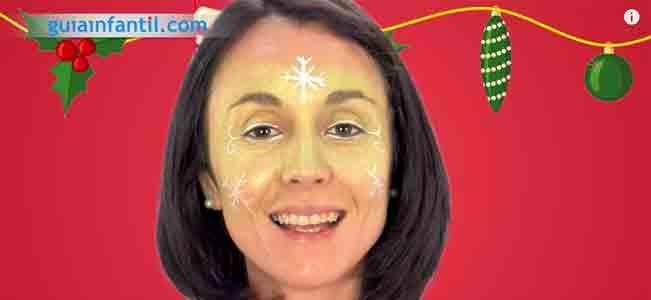 Maquillaje de hada de Navidad. Paso 4