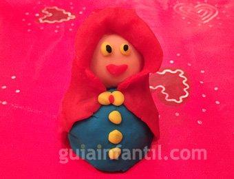 Virgen María de plastilina de Navidad
