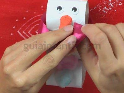 Muñeco de Nieve de Navidad. Paso 5
