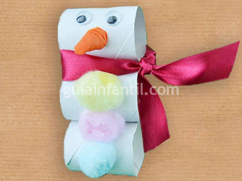 Mu eco de nieve de cart n manualidades de navidad - Como hacer manualidades navidenas para ninos ...