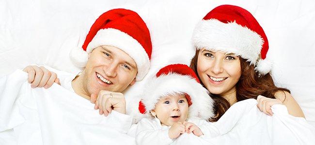 Rutina del recién nacido en Navidad