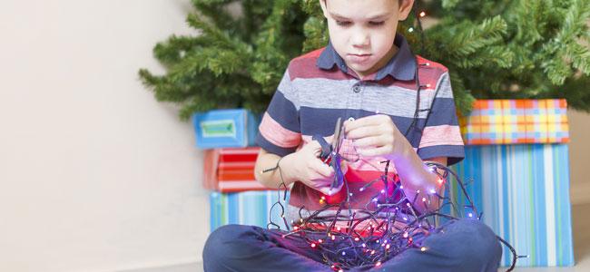 Decoración navideña a prueba de niños