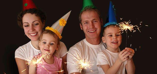 Familia celebra fin de año