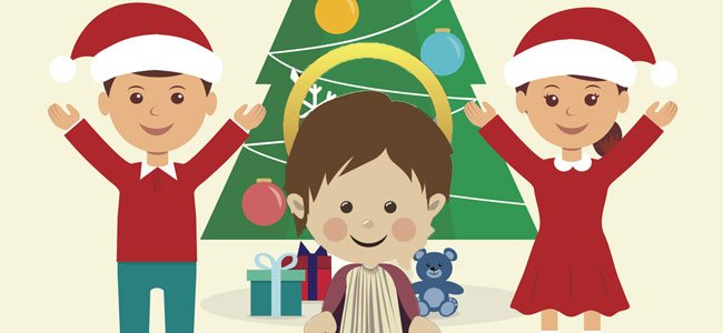 Niño Jesús y regalos