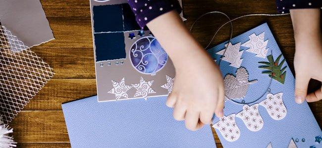 Manualidades y adornos navide os para hacer con los ni os - Postales navidad hechas por ninos ...