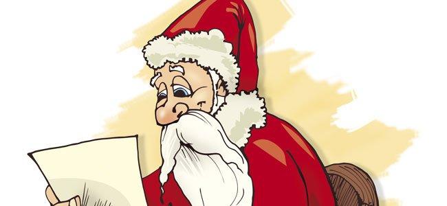 Papá Noel lee carta
