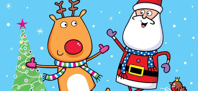 Villancicos bailados por Papá Noel