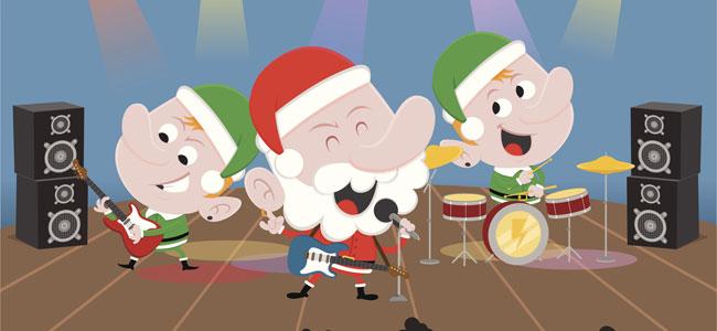 Papá Noel rockín'Around