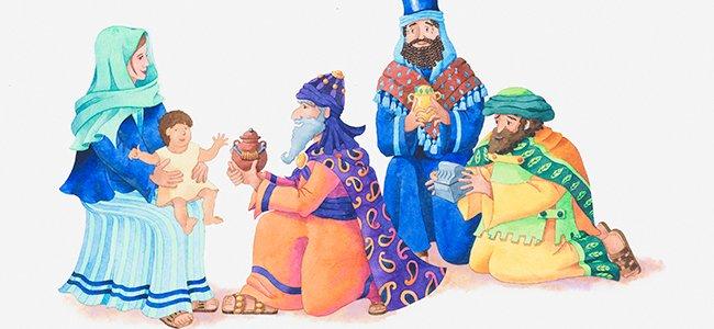 Poema sobre los Reyes Magos para niños