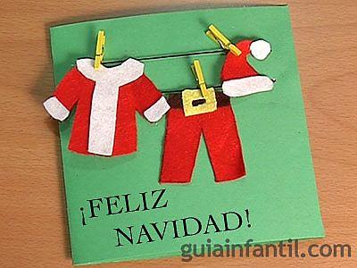 Postal de ropa de Papá Noel 6