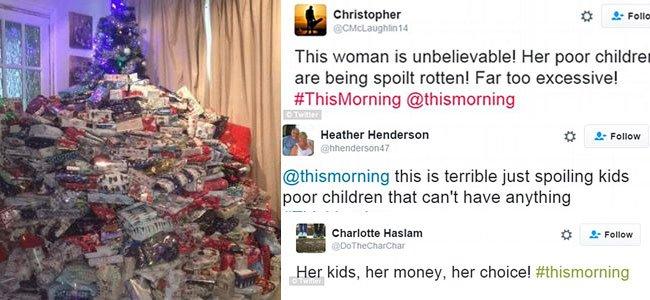 Demasiados regalos a los niños