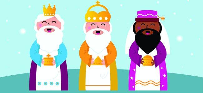 We Three Kings of Orient are. Villancico para niños