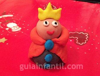 Rey Mago de plastilina de Navidad