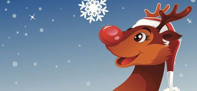 Rudolph villancico en inglés