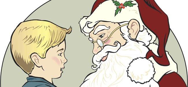 Papá Noel y un niño