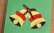 Postal navideña con campanas