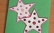 Postal con estrellas