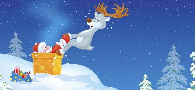 Canción de Navidad en inglés: Up to the housetop