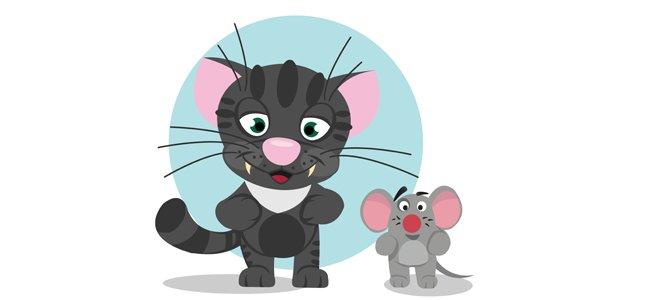 Fábula de El gato y el ratón