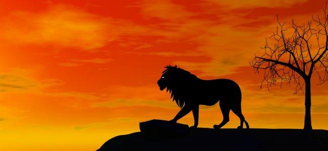Fábula de Fontaine El león enfermo y los zorros.