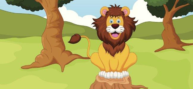 Fabula El león que iba a la guerra de La Fontaine.