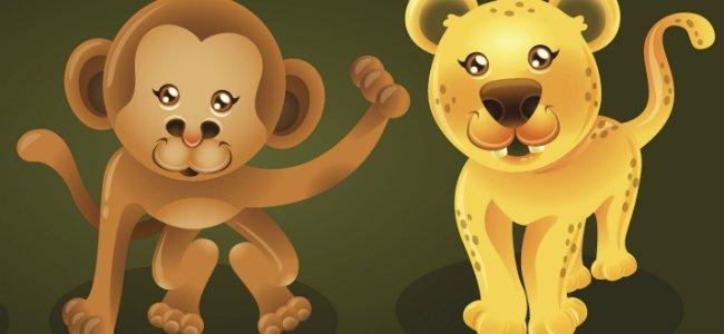 El mono y el leopardo Fábulas de La Fontaine
