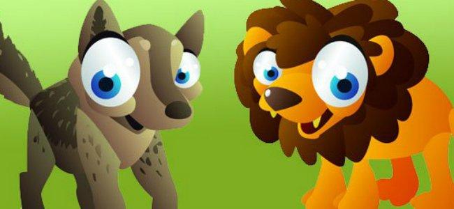 Fábula de El lobo y el león
