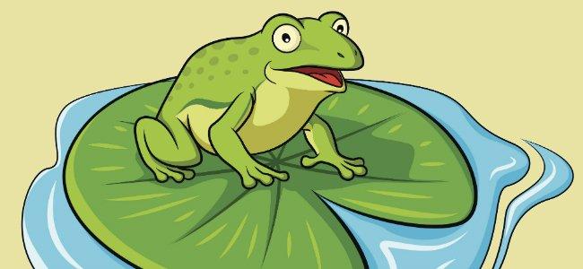 Fábula para niños. La rana que quiso hincharse como un buey.