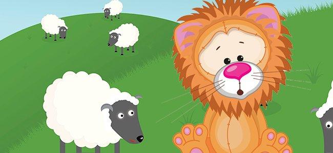 El león que creía ser un cordero. Cuentos infantiles