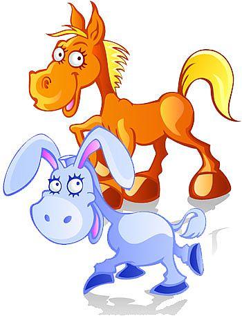 El asno y el caballo