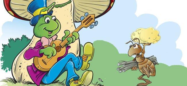 Fabula para niños: la cigarra y la hormiga