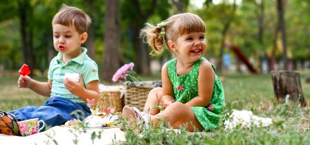 El picnic con niños