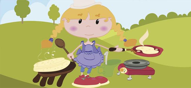 Tortitas de maíz. canción para jugar con las manos de los niños
