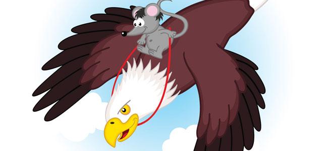 El ratón inteligente y el águila avariciosa