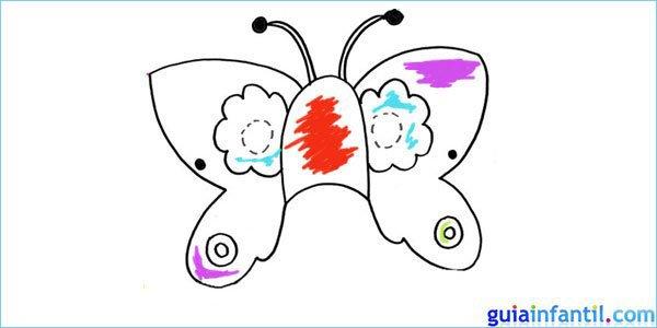 Antifaz de mariposa para colorear