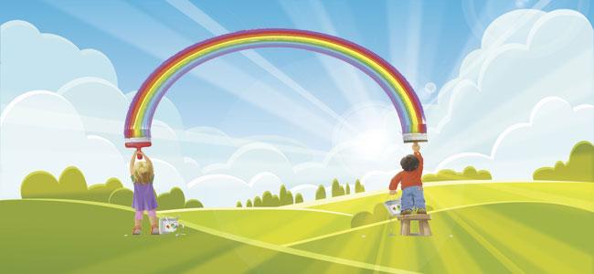 Un arcoíris diferente. Cuento de colores para niños