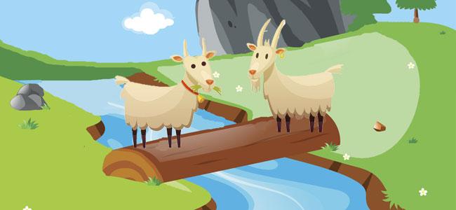 Fábula para niños. Las dos cabras. Fábula de Esopo