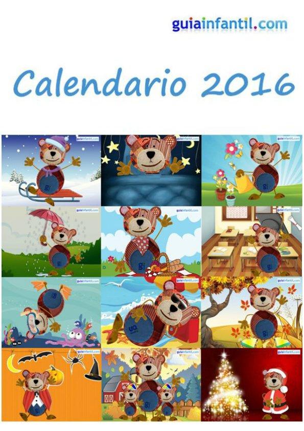 Calendario infantil del Oso Traposo 2016