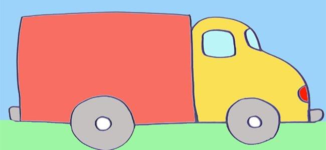 Dibujo de un camión.