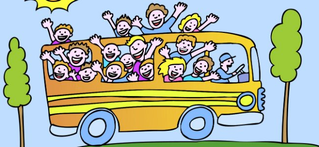 Canciones en inglés. Wheels on the bus